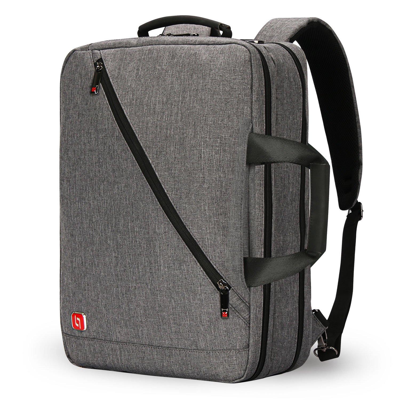3way ビジネスバッグ リュック 17型PC対応 ショルダー 撥水加工 大容量 通勤 出張 スクエア グレー メンズ Soarpop