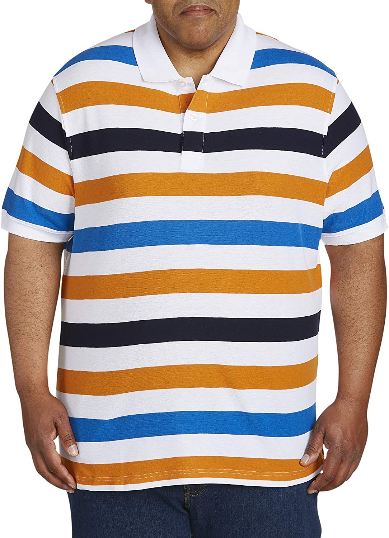 Canyon Ridge Men's Big and Tall Classic Short Sleeve Pique Polo Shirt