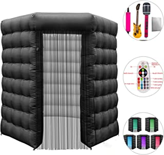 Happybuy 1 Doors Inflatable Photo Booth 8.2X 8.2ft Octagonal Shape Photo Booth Enclosure Portable LED Lights Photo Booth W/Fan Great for Parties Weddings Anniversary Birthdays Company Parties Special