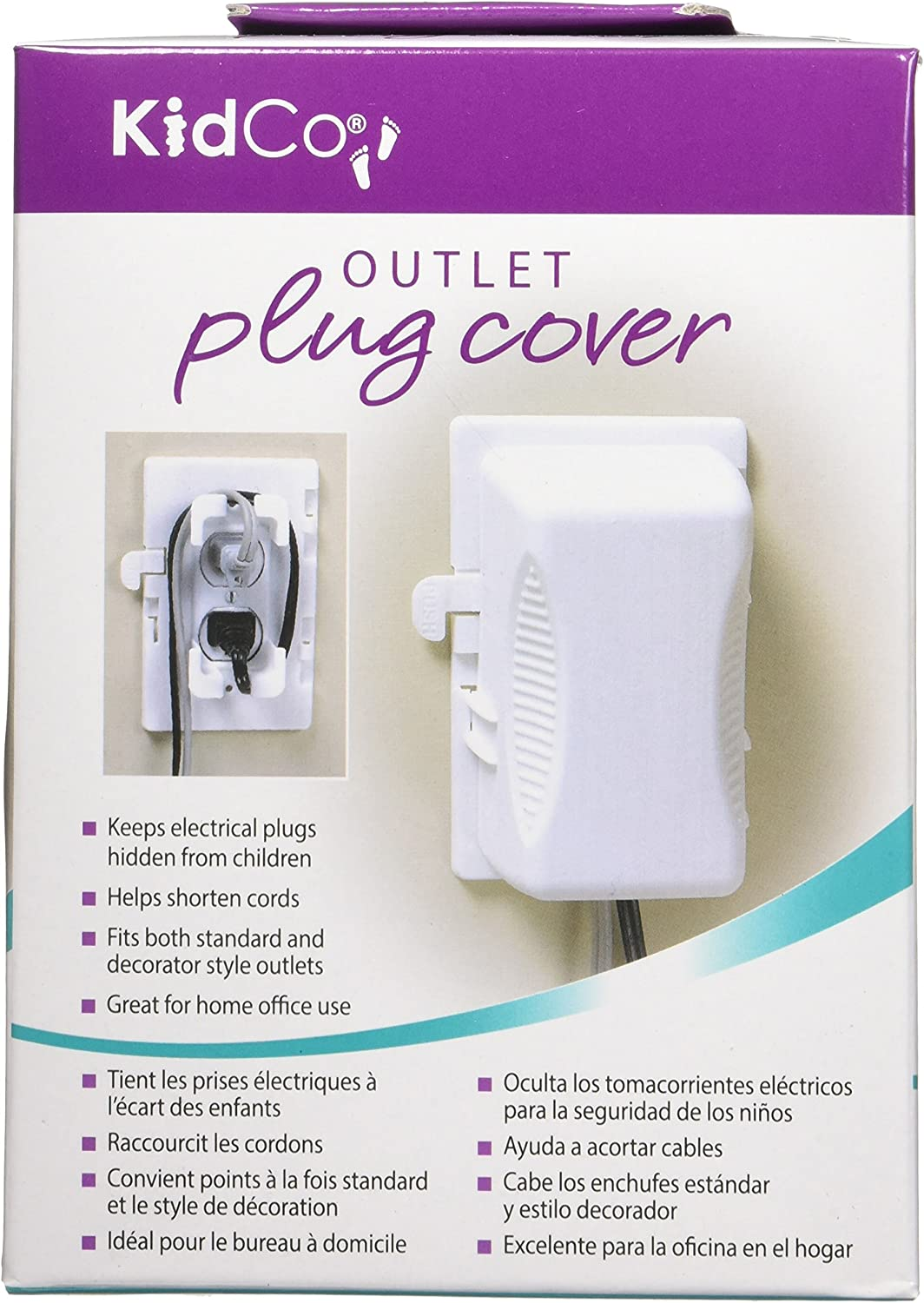 KidCO Outlet Plug Cover, White