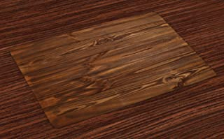 Ambesonne Rustic Place Mats Set of 4, Cottage Cabin Living in The Countryside Theme Freshly Cut Wooden Planks Texture Image, Washable Fabric Placemats for Dining Room Kitchen Table Decor, Brown