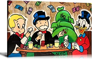 Newartprint ALEC Monopoly HD Printed Oil Paintings Home Wall Decor Art On Canvas Playing Cards 24x36inch with Framed
