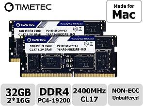 Timetec Hynix IC Apple - Kit de 32 GB (2 x 16 GB) DDR4 2400 MHz PC4-19200 SODIMM actualización de Memoria para iMac Retina 4k/5K 21,5-pulgadas/27 Pulgadas Mediados de 2017 (32 GB (2 x 16 GB)