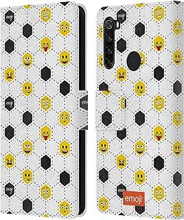 オフィシャル emoji? パターン フットボール Xiaomi Redmi Note 8T 専用レザーブックウォレット カバーケース