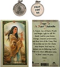 St. Kateri Tekakwitha Laminated Prayer Card and Medal, Patron Saint of the Environment and Ecology
