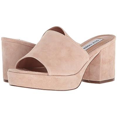 Steve Madden Relax Slid Block Heeled Sandal (Blush Suede) Women