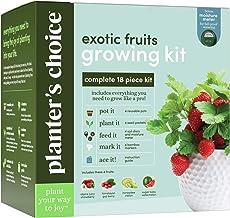 Exotic Fruits Growing Kit - Complete Kit - Grow 4 Indoor Fruit from Seeds (Strawberries, Goji Berries, Honeydew, Watermelo...
