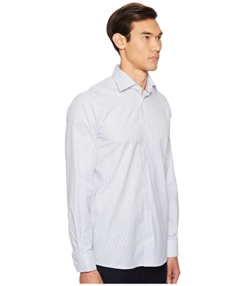 Multi textura de corte Camisa de rayas con entramado Eton xWq8w1SnwU