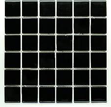 shiny black bathroom tiles