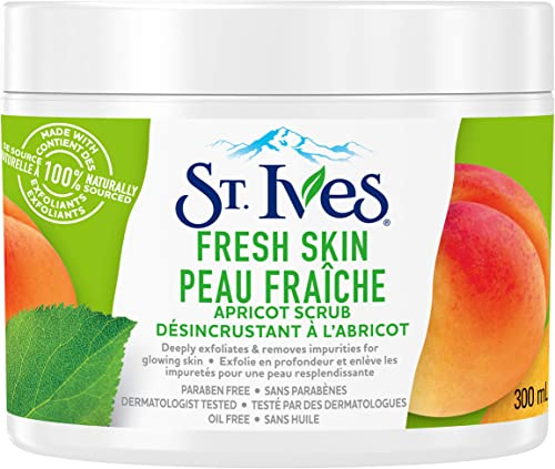 St. Ives Fresh Skin Facial Scrub for clear, glowing skin Apricot paraben-free 300 ml
