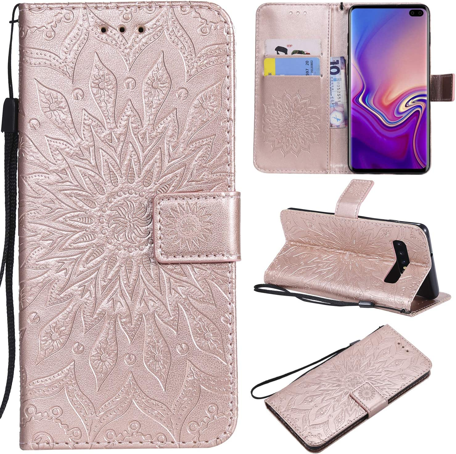 Cfrau Kickstand Wallet Many popular brands Case with for Black Galaxy Daily bargain sale Stylus Samsung