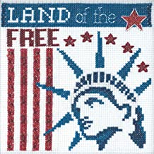 Land of The Free Beaded Counted Cross Stitch Kit Mill Hill 2019 Patriotic Quartet Collection MH171912