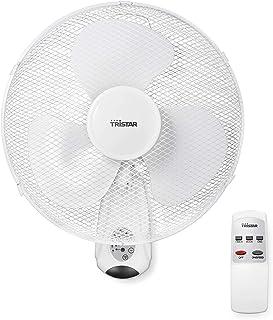 Tristar ve-5875 - ventilador de pared, 40.cm, oscilante, control remoto y temporizador