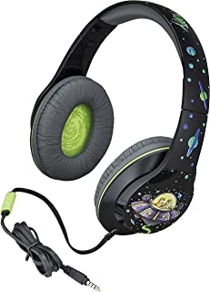 Rick and Morty Over The Ear Headphones with Built in Microphone Quality Sound from The Makers of iHome