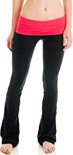 Clothing Juniors Fold Over Athletic Yoga Pants