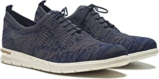 HYKEE Men's Breathable Knitted Fabric Comfy Lightweight Casual Athletic Shoe