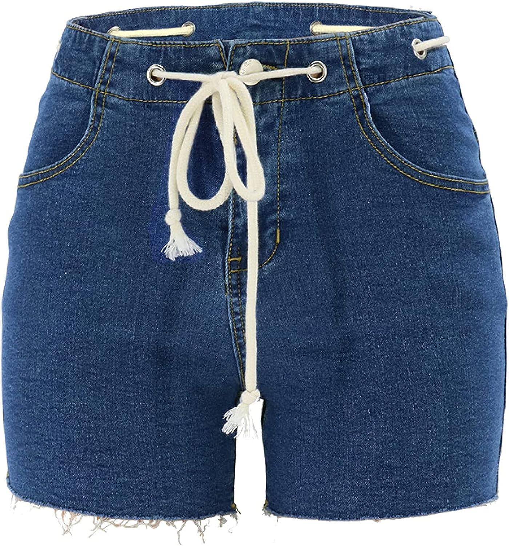 Women's Denim Shorts Fashion Simple Trend All-Match High Waist Sexy Streetwear