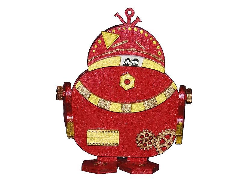 Petra's Craft News ROB2616?Wood Craft Kit Robot P/B Zwo, 160?mm Holzfarbe with accompanying Einglasigen Glasses, 20?x 15?x 5?cm