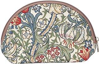 Signare Tapestry Makeup Bag Travel Cosmetic Bag Brush Bag for Women Girls by Designer William Morris Golden Lily (COSM -GL...