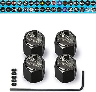 Custom Tire Valve Stem Caps (35 Vehicle Models) Anti-Theft Hexagon Design | Car, Truck, SUV | Leakproof, Airtight, Dustproof Seal | All-Weather, Lock Tight Fit (for Jaguar Vehicles)