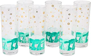 Star Wars Highball Glasses, Set of 6 - Cute Pinache AT-AT Imperial Walker Design - 8 oz