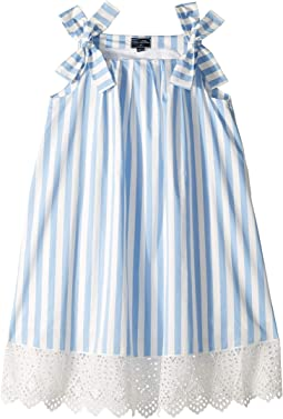 Stripped Cotton Day Dress (Little Kids/Big Kids)