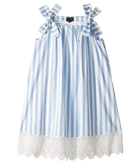 Oscar de la Renta Childrenswear Stripped Cotton Day Dress (Little Kids/Big Kids)