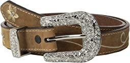 Nocona Embroidered Flower Belt