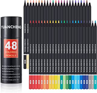 مداد رنگی YUANCHENG 48 رنگ برای کتابهای رنگ آمیزی بزرگسالان ، نرم نرم ، هنرمند طراحی مداد نقاشی وسایل صنایع دستی هنر ، مداد رنگ آمیزی هدیه برای بزرگسالان کودکان مبتدی