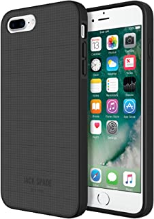JACK SPADE Cell Phone Case for Apple iPhone 7 Plus - Graphic Check / Smoke Grey