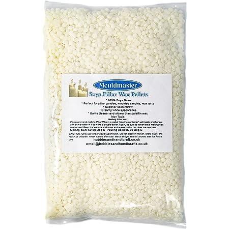 colore Mouldmaster candela di soia Wax Pellets 5/kg panna//bianco sporco
