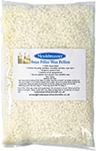 Mouldmaster Soy Pillar Candle Wax pellets 2Kg, SOYA, Cream/Off White, 28 x 12 x 1 cm