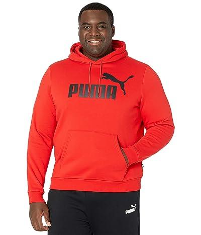 PUMA Big Tall Essential Hoodie Fleece Big Logo (Puma Red) Men