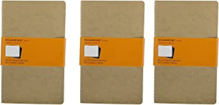Pack of 3 Moleskine Cahier Journal (Set of 3), Large, Ruled, Kraft Brown, Soft Cover (5 x 8.25)