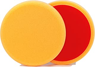 ALCLEAR 5513530AH Polierpad gegen Hologramme, Auto Polierschwämme, Durchmesser: 135x25 mm, orange, 2er Set, Polierpad polieren Pad Schwamm Polierschaum f. Poliermaschine
