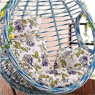 Cesta colgante Cojines para sillas con forma de huevo Silla colgante de ratán con forma de huevo Cojines para sillas con reposabrazos Muebles de patio de jardín para exteriores / interiores 50 x 56 p