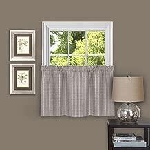 "Achim Home Furnishings Sydney Pair Window Curtain Tier, 58"" x 24"", Linen"