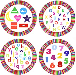 alphabet and numbers birthday theme