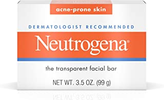 Neutrogena Facial Cleansing Bar Treatment for Acne-Prone Skin, Non-Medicated & Glycerin-Rich Hypoallergenic Formula with No Detergents or Dyes, 3.5 oz