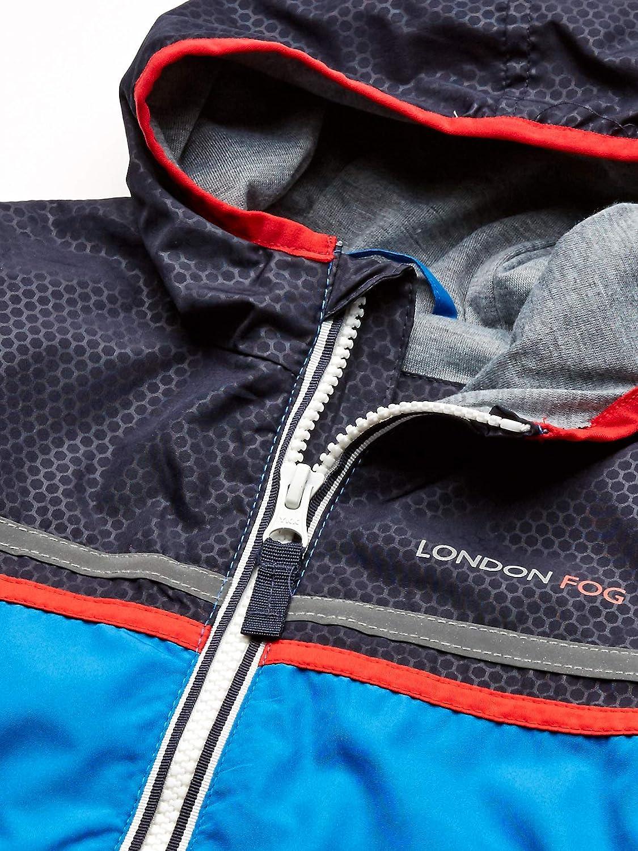 LONDON FOG boys Chest Stripe Poly Lined Jacket