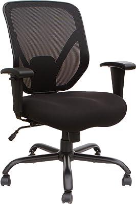 Lorell Soho Big & Tall Mesh Back Chair, Black