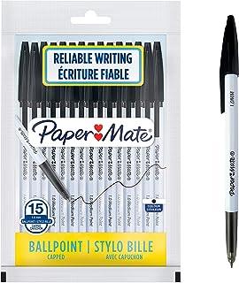 Paper Mate 045 Ballpoint Pens   Medium Point (1.0 mm)   Black Ink   15 Count