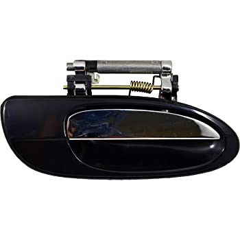 Smooth Black Housing with Chrome Insert Lever Outside Exterior Outer Door Handle Driver Side Rear PT Auto Warehouse MI-3238S-RL