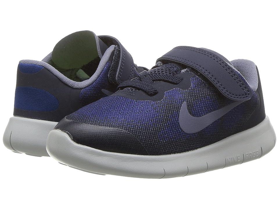 Nike Kids Free RN 2017 (Infant/Toddler) (Binary Blue/Dark Sky Blue/Obsidian) Boys Shoes