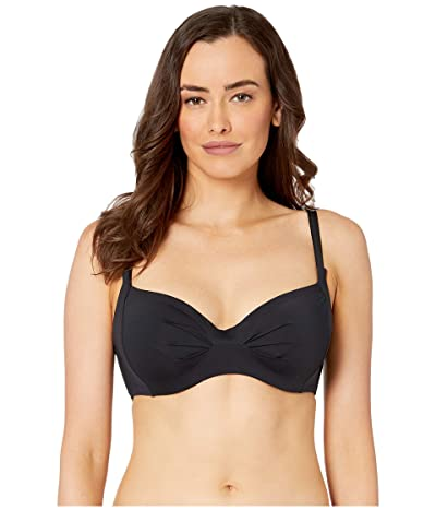 Roxy Solid Beach Classics Underwire D-Cup Swim Top (True Black) Women