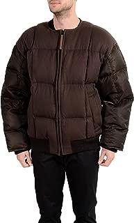 Hugo Boss Men's Blacksky_FS Brown Wool Cashmere Down Parka Jacket US S IT 48