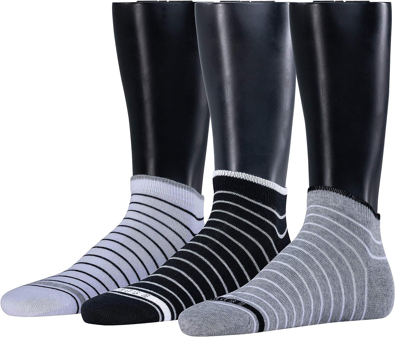 Esprit Herren Sneakersocken Fine Stripe 3 Pack Baumwollmischung 3 Paar Blau White Light Grey Navy 20 Größe 40 46 Bekleidung