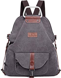Travistar Rucksack Damen Handtasche Schultertasche Canvas Schultasche Reiserucksack für Frauen