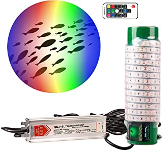 Green Blob Outdoors Multi-Color Fishing, Pool Light (Includes Red, Green, Blue, Yellow, White, Orange, Purple & More) Underwater, w/ 30ft Cord, LED, Fish Attractor, (7,500 Multi-Color)