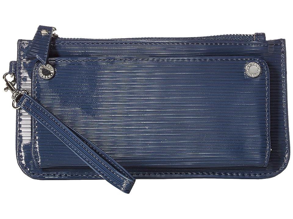 Steve Madden Patent Wristlet (Navy) Wallet Handbags
